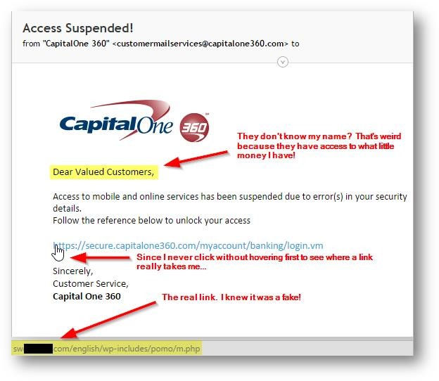 Capital One Spam