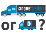 Icon asking whether to go with freight or regular ground shipping?