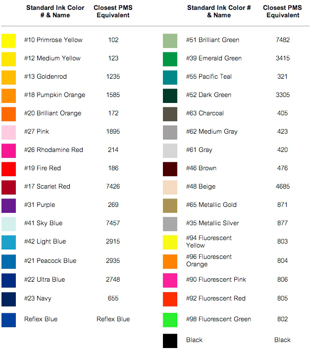 Yard Sign Colors
