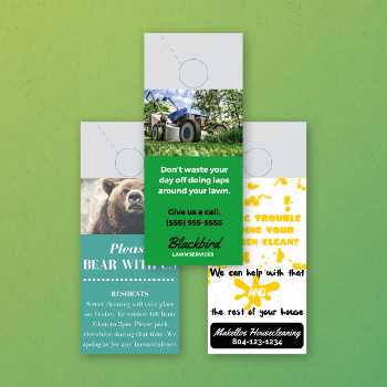 Full-Color Door Hanger Printing | Conquest Graphics2