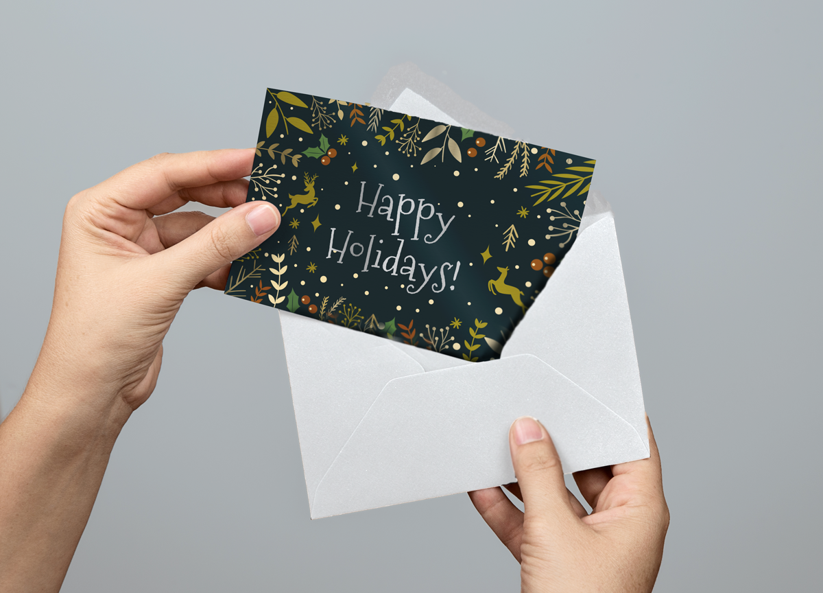 7x5 Greeting Card Flat Mockup Free Design Template