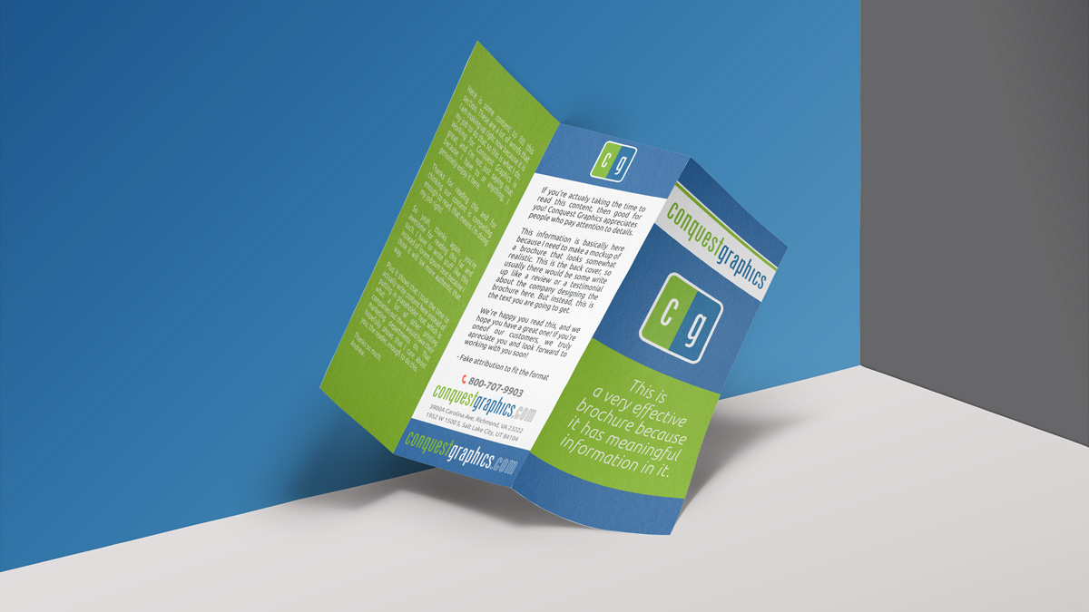 The first step to making effective, cheap brochures is knowing your customer and your product fully.