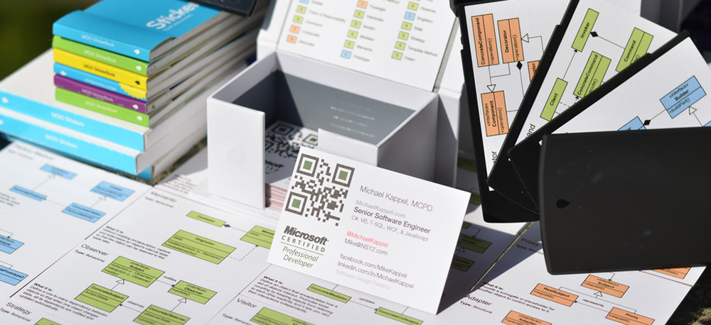 QR codes allow viewers with a smart phone to scan it and go directly to your specified URL.