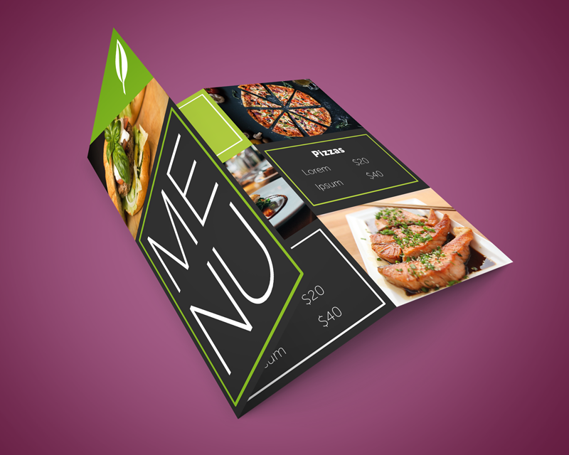 Free z-fold brochure template and design samples.