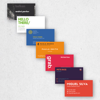 Full-Color Business Card Printing | Conquest Graphics1