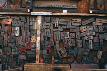 Wood Font 375x2502